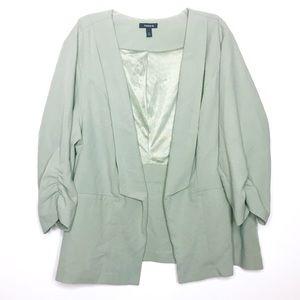 Torrid Light Green Cutaway Blazer Size 4X